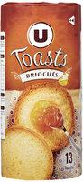 Toasts briochés nature - Product