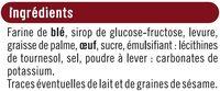 Toasts briochés nature - Ingrediënten