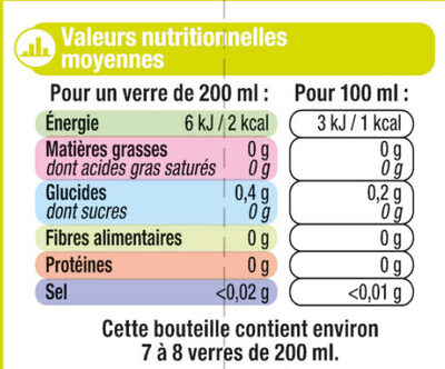 Pur jus multifruits - Nutrition facts