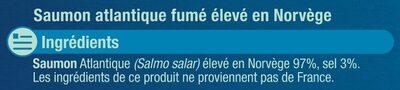 Saumon Atlantique Norvège fumé - Ingrédients - fr