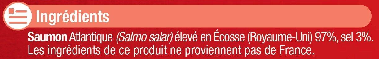 Saumon fumé Atlantique Ecosse - Ingrédients - fr