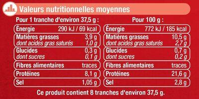 Saumon fumé Atlantique Ecosse - Informations nutritionnelles - fr