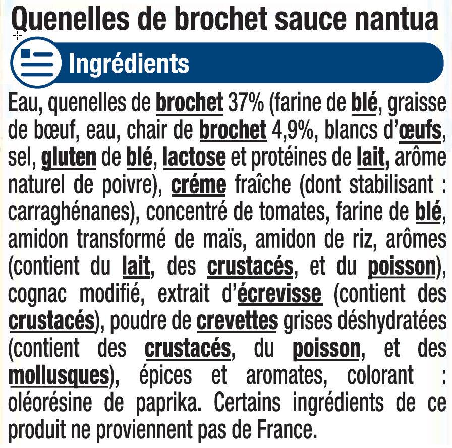 Quenelles de brochet sauce Nantua - Ingrediënten