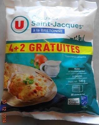 Coquilles Saint-Jacques* à la Bretonne (4 + 2 Gratuites), Surgelé - Product
