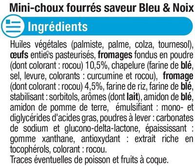 Mini choux saveur bleu et noix - Ingredients