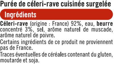Purée de céleri - Ingrediënten - fr