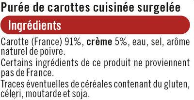 Purée de carottes - Ingrediënten - fr
