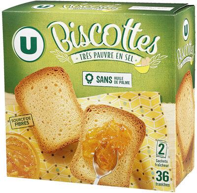 Biscottes très pauvre en sel - Product - fr