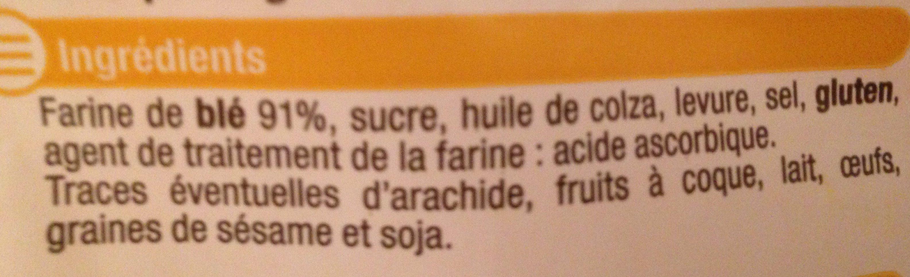 Petits pains grillés au froment - Ingrediënten - fr