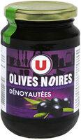 Olives noires confites dénoyautées - Product