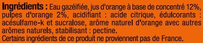 Orangeade pulpée zéro - Ingrédients