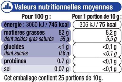 Beurre moulé de Bretagne doux 82% de MG - Voedingswaarden