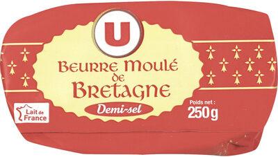 Beurre moulé de Bretagne demi-sel 80% MG - Product - fr