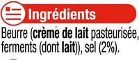 Beurre moulé de Bretagne demi-sel 80% MG - Ingrediënten - fr