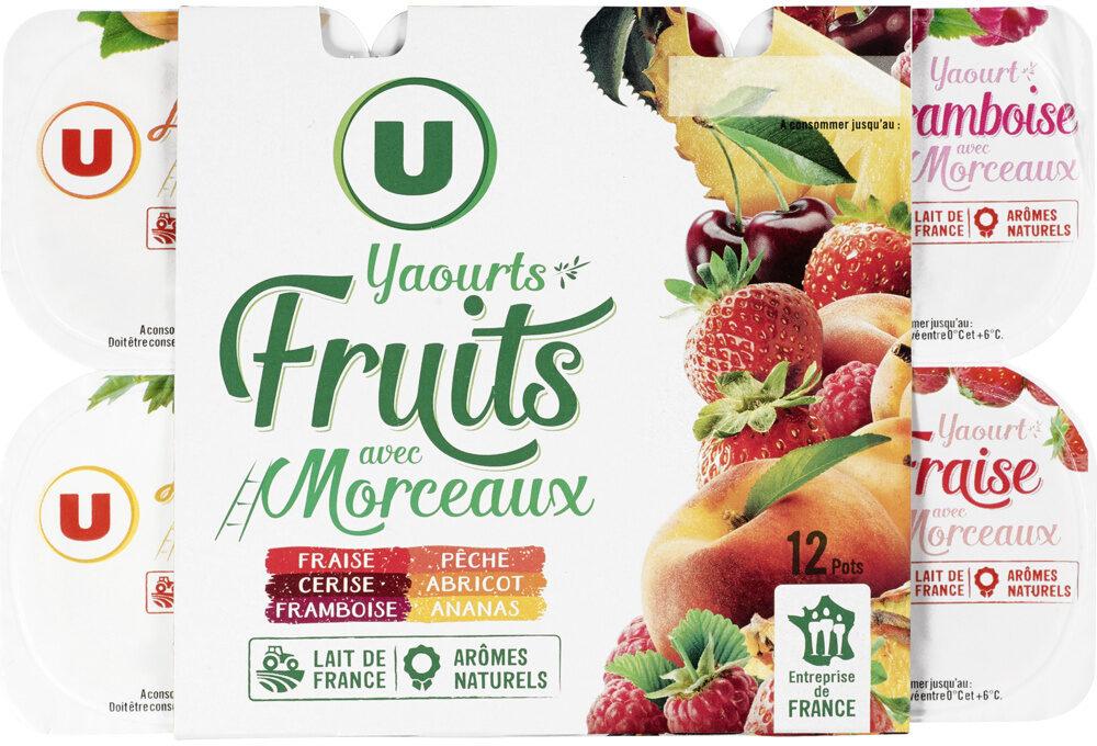 Yaourt aux morceaux de fruits panachés - Produit - fr