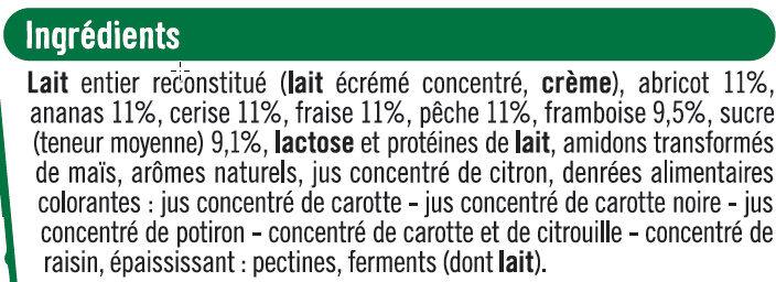 Yaourt aux morceaux de fruits panachés - Ingrédients - fr