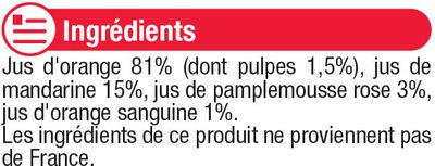 Pur jus 4 agrumes - Ingredients