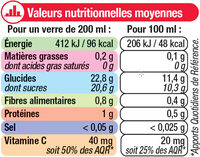 Pur jus 4 agrumes - Nutrition facts