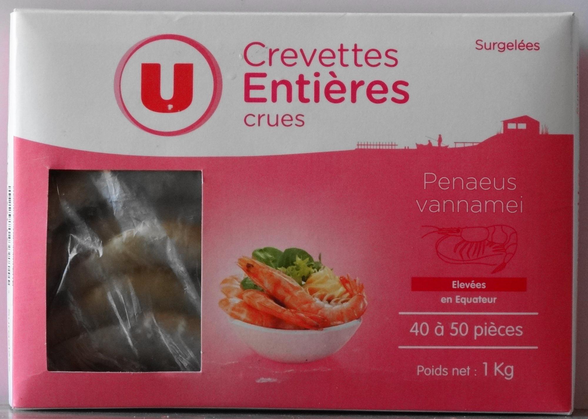 Crevettes entières crues - Product