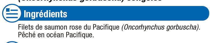 Filets de Saumon Rose Sauvage du Pacifique - Ingrédients - fr