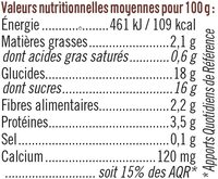 Spécialité dessert de soja au chocolat - Nutrition facts