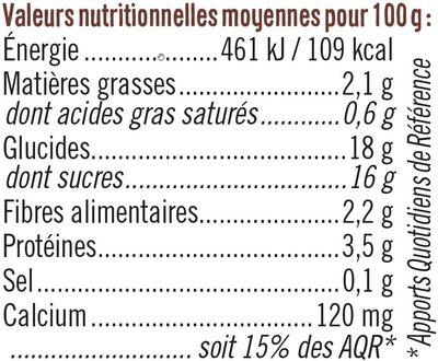 Spécialité dessert de soja au chocolat - Informazioni nutrizionali - fr