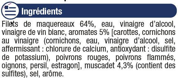 Filets de maquereaux au muscadet et aromates - Ingrediënten - fr
