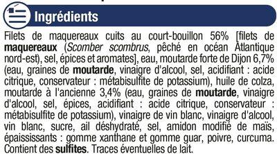 Filets maquereaux à la moutarde ancienne - Ingrédients
