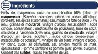 Filets maquereaux à la moutarde ancienne - Ingrediënten - fr