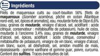 Filets maquereaux moutarde ancienne - Ingrédients - fr