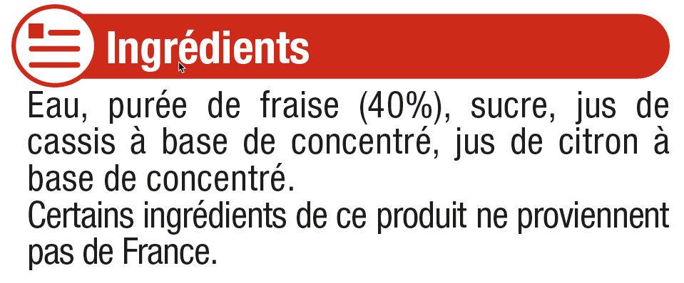 Fruits gourmands Fraise - Ingrediënten
