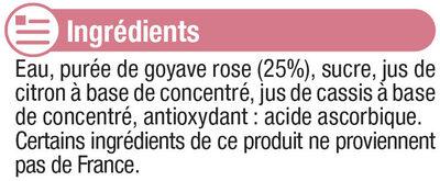 "Jus à la goyave ""fruits gourmands"" - Ingredienti - fr"