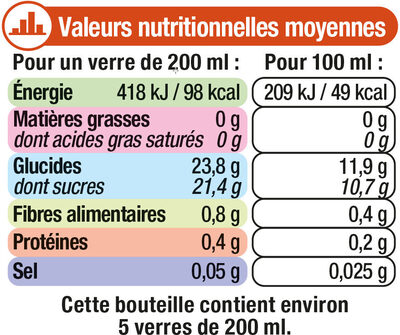 "Jus à la mangue ""fruits gourmands"" - Nutrition facts - fr"
