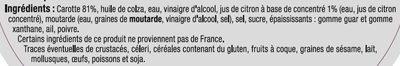 Carottes râpées - Ingrédients - fr
