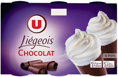 Dessert liégeois chocolat et crème fouettée - Produit