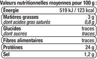 Thon blanc au naturel - Valori nutrizionali - fr