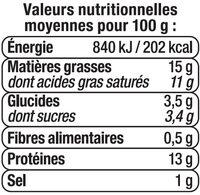 Fromage frais au lait pasteurisé de chèvre 12%MG - Nutrition facts - fr