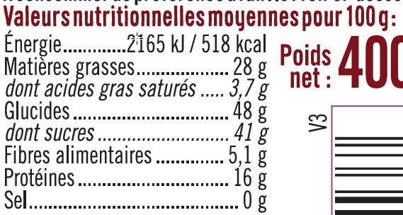 Chouchou caramélisés - Voedingswaarden - fr