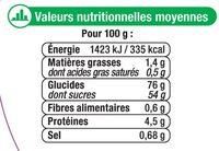 Assortiment de gélifiés et réglisse aromatisés - Informations nutritionnelles - fr