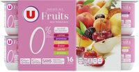 Yaourt aux fruits avec morceaux 0% - Produit - fr