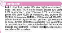 Yaourt aux fruits avec morceaux 0% - Ingrédients - fr