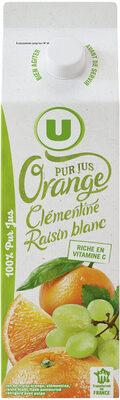 Pur jus réfrigéré orange, clémentine et raisin blanc - Product - fr