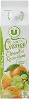 Pur jus réfrigéré orange, clémentine et raisin blanc - Produit - fr