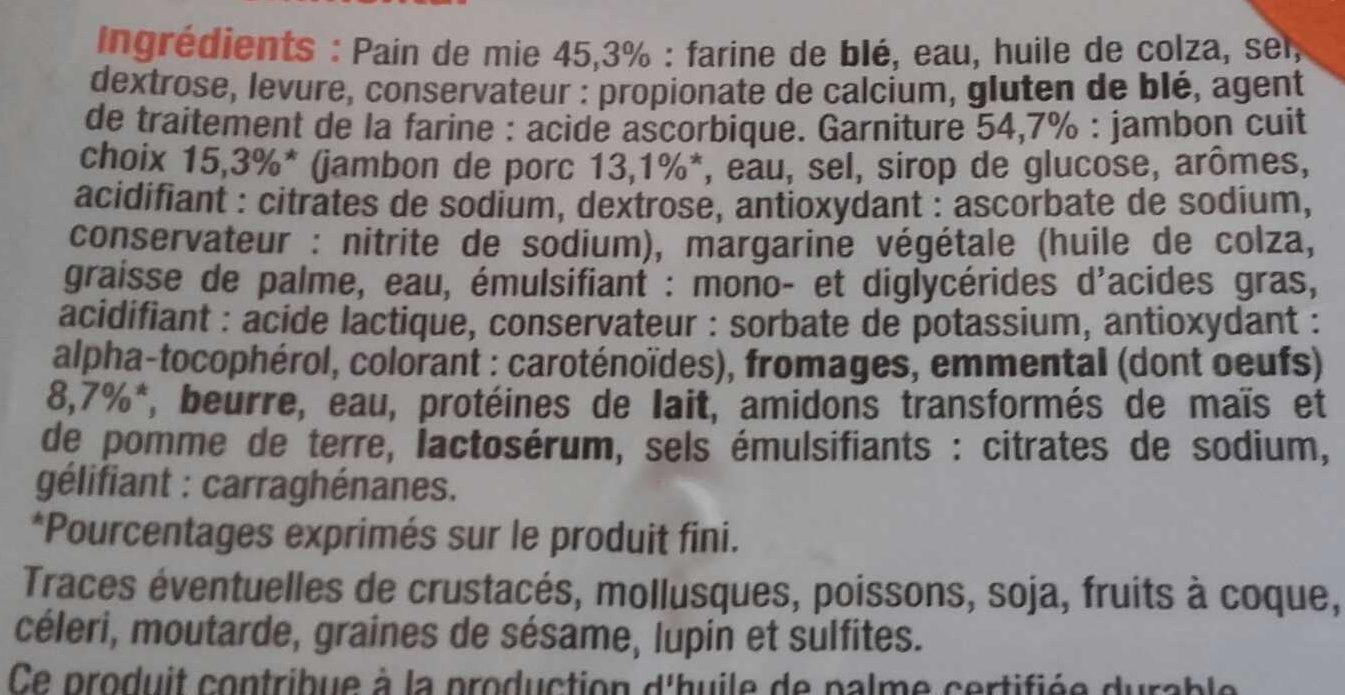 Croque-monsieur élémental maxi - Ingredients