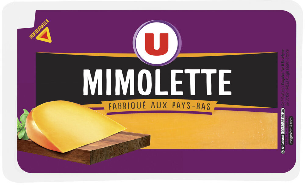 Mimolette au lait pasteurisé 24% de MG - Product - fr