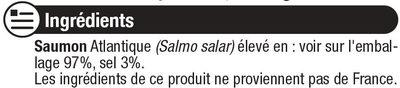 Saumon fumé d'Atlantique - Ingrediënten