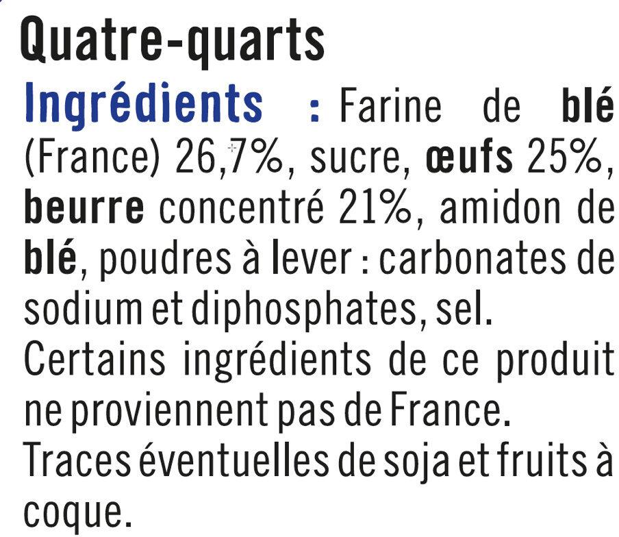 Quatre quarts - Ingrediënten