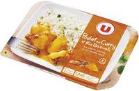 Poulet au curry et riz basmati - Produit - fr
