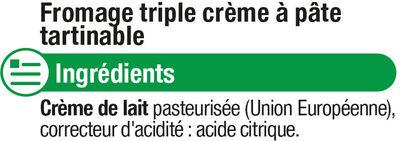 Mascarpone au lait pasteurisé - Ingredients - fr