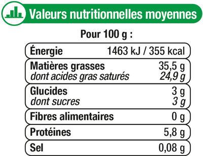 Mascarpone au lait pasteurisé - Nutrition facts - fr